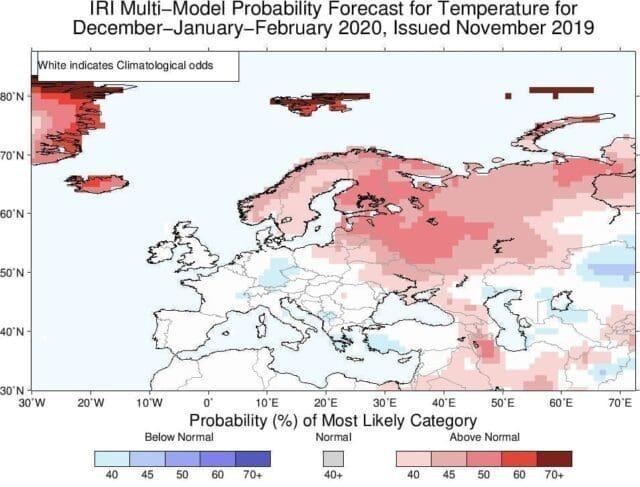 Teplotní odchylky - model IRI