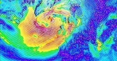 Větrno bude, ale ne tak významně. Předpověď větru v Evropě 16.2.2020.
