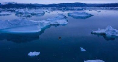 V Grónsku roztálo rekordně ledu.