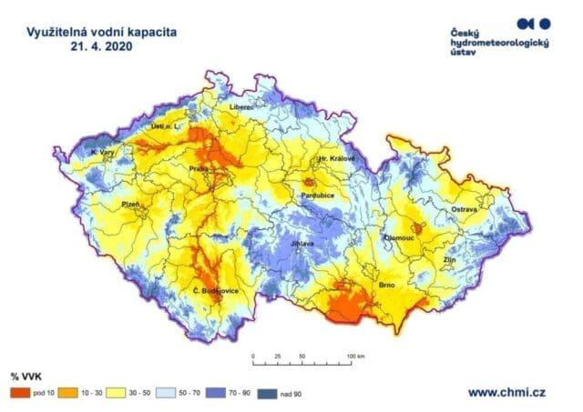 Sucho je letos výraznější než loni a předloni