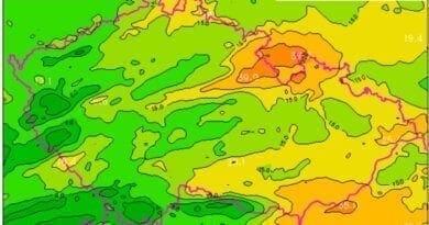 Jak to bude o víkendu se srážkami? Očekávané srážky za den do 24.5.2020.