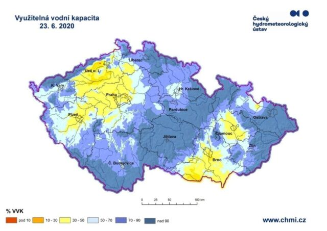 Sucho v ČR se zmírnilo, zažehnalo jen někde