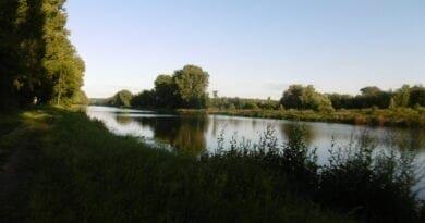 Po delší době sušší týden, léto jen krátce. Slunné počasí u řeky.