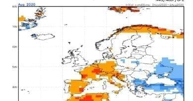 V srpnu 2020 bude proměnlivé, ale průměrné počasí. Odchylky teploty na srpen 2020.