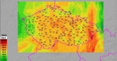 Srážky za 24 hodin do 26.9.2020 8h, vydatné srážky zmírnily sucho.