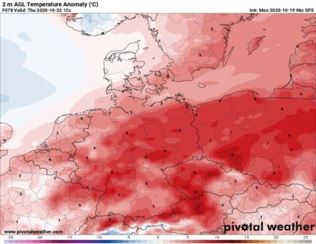 Teplotně podprůměrné počasí je střídání nadprůměrným