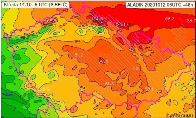 Moravu čekají extrémní srážky