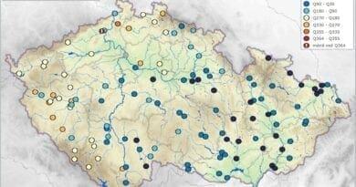 Hydrologická situace je většinou dobrá, vodnosti toků k 22.10.2020