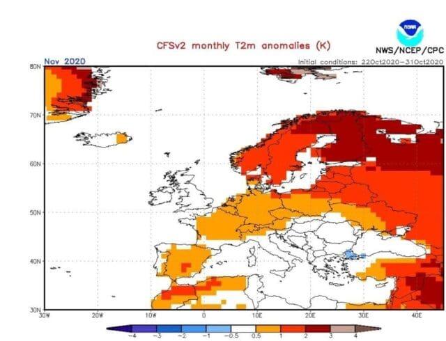 Listopad 2020 bude častěji teplejší