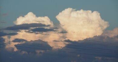 Měřítko v meteorologii, aneb Orlanskiho klasifikace. Konvekcí vzniklý oblak.