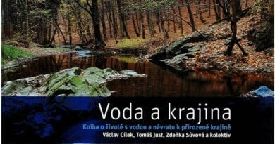 Publikace Voda a krajina. Obálka publikace Voda a krajina.