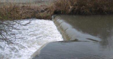 Sníh začne odtávat, hrozí povodeň? Rozvodněný potok.