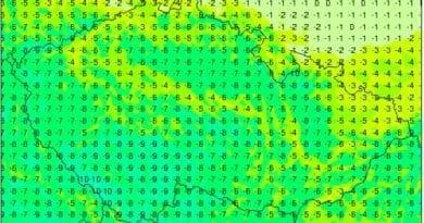 Bude zima bude mráz. Minima teploty na 7.3.2021.