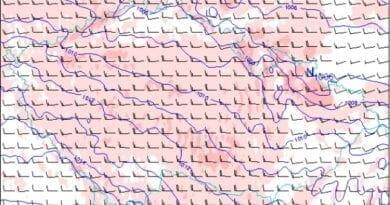 Silný vítr přinese cyklona Klaus. Předpověď nárazů větru na 12.3.2021.