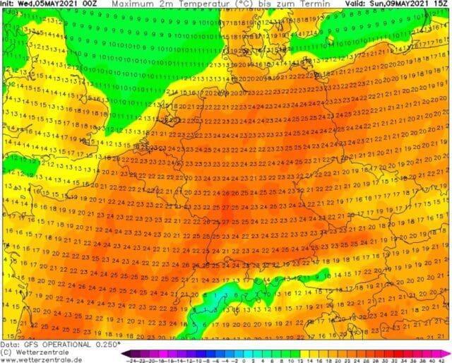 Větrno do pátku, poté léto? Maxima teploty na 9.5.2021.