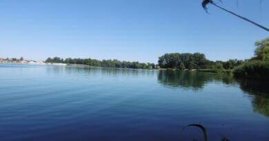 Léto se vrátí na konci týdne. Slunečné letní počasí u jezera.
